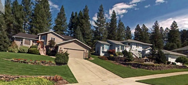 Sorry, Indian Trail, the City of Spokane deems your California split-levels unsuitable for lodging. - GOOGLE MAPS