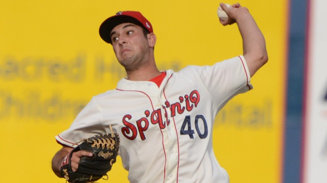 Derek Thompson started the game for the Spokane Indians. - SPOKANE INDIANS
