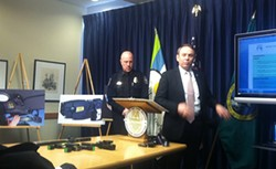 Spokane Police Chief Frank Straub and Mayor David Condon announce plans for Department of Justice review.