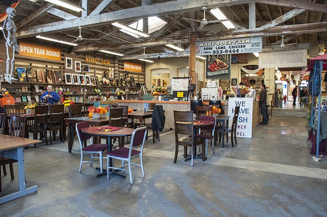 Inside the Spokane Public Market, which houses a variety of vendors at 24 W. 2nd Ave. - SARAH WURTZ