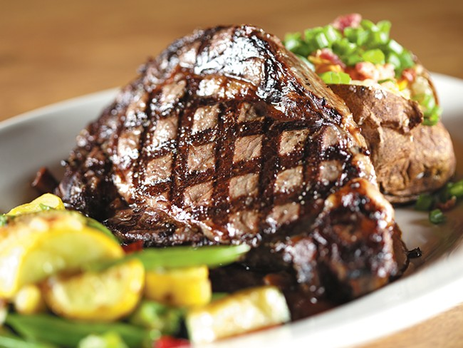 Steaks, burgers and pasta are the standbys at Crickets.| - YOUNG KWAK