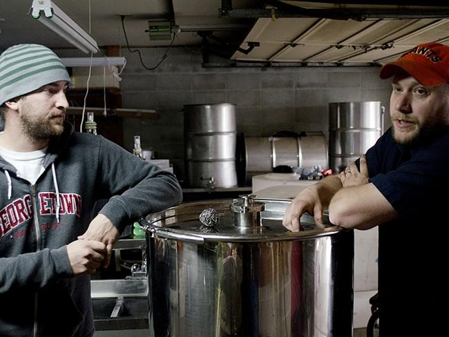 Steve Wells and Dan Dvorak of Black Label Brewery. - JACOB JONES