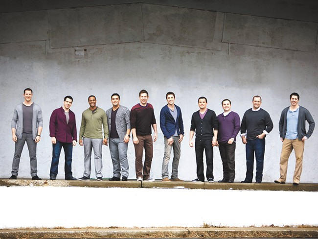 Straight No Chaser, including founding member Randy Stine, second from right.