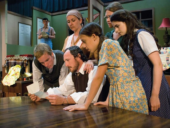 Students learn from pros onstage in Brighton Beach Memoirs. - KYNDALL ELLIOTT