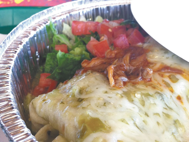 Sweet Pork Barbacoa burrito. - CARRIE SCOZZARO