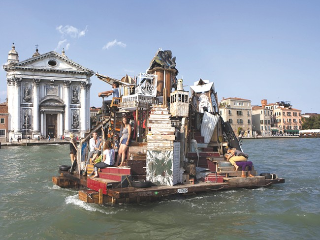 """Swoon\'s \""""The Swimming Cities of Serenissama\"""" traveled through Italy."""