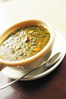Taste Cafe's Lentil and Spinach Soup