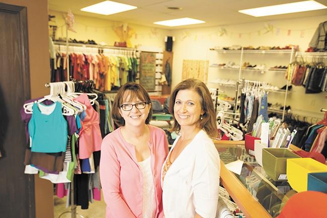 Teen Closet Co-Directors Linda Rogers, left, and Robyn Nance. - YOUNG KWAK