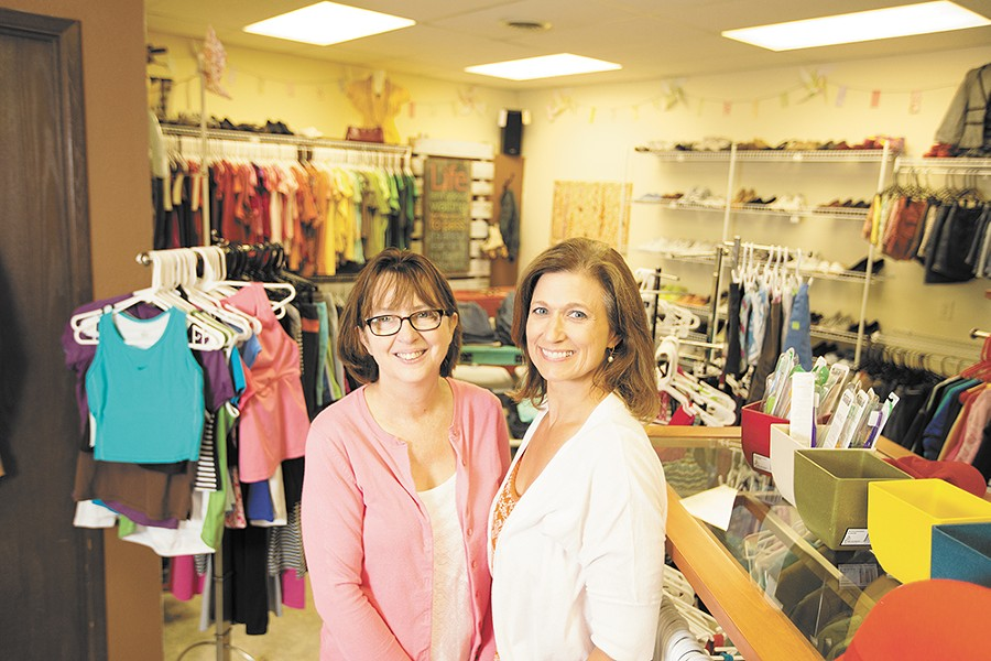 Teen Closet Co-Directors Linda Rogers, left, and Robyn Nance. - YOUNG KWAK
