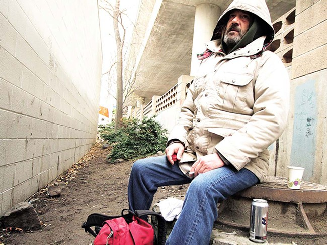 Terry Vaara, photographed last fall, has been homeless off and on for 17 years - YOUNG KWAK