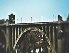 The 136-foot-high Monroe Street Bridge has been the site of at least five suicides in the past decade. - KRISTEN BLACK