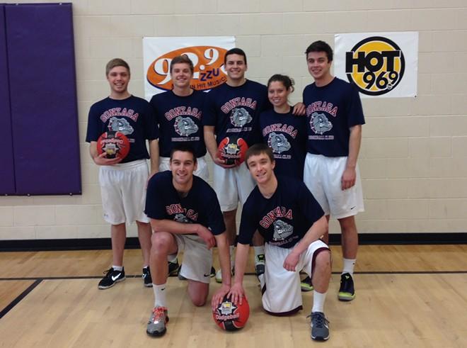 The 2014 squad at the Oz Fitness Dodgeball Tournament in Spokane. - RACHEL HOGAN