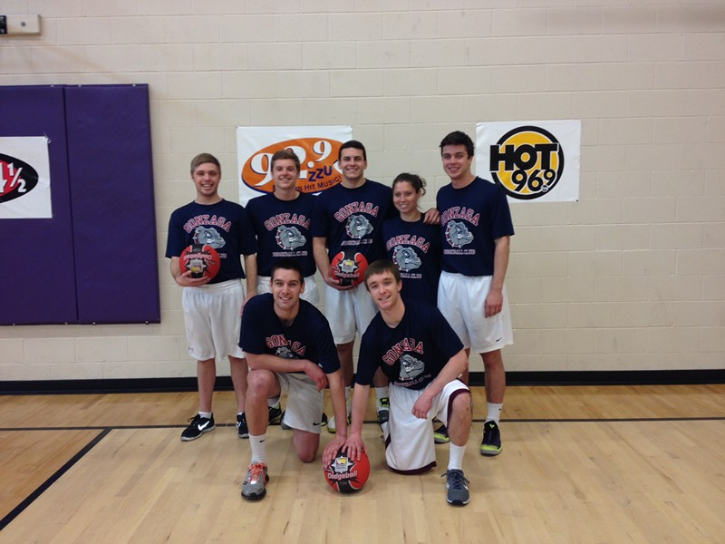 The 2014 squad at the Oz Fitness Dodgeball Tournament in Spokane. - RACHEL HOGAN