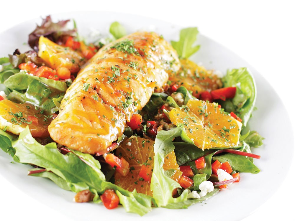 The Alaskan salmon spring salad from Mission Bistro - YOUNG KWAK