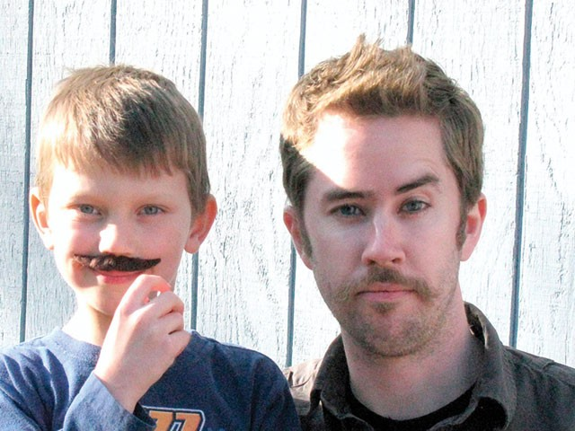 The author with his nephew