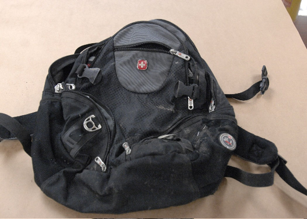 The backpack left at Main and Washington during the MLK unity parade