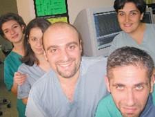 The cardiology crew Tim Lessermeier helps in Armenia.