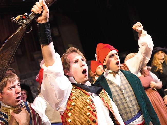The cast of The Civic\'s Les Miserables. - STEPHEN SCHLANGE