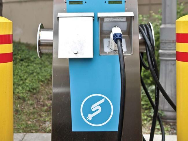 The charging station at City Hall - JORDAN BEAUCHAMP