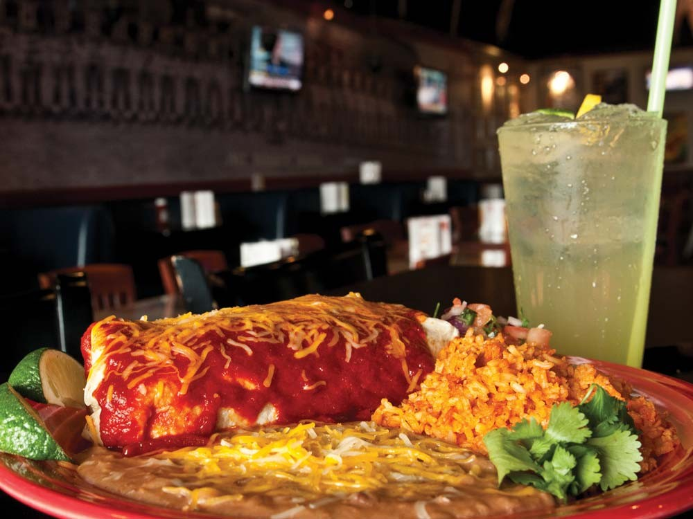The chicken burrito combo at Heroes and Legends - AMY HUNTER
