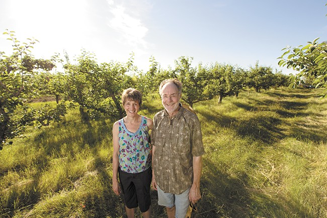 The Coles have something to harvest from July through October at their Green Bluff orchard. - YOUNG KWAK