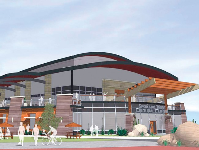 The cultural center would cost as much as $8 million to build. - RENDERING: WOMER