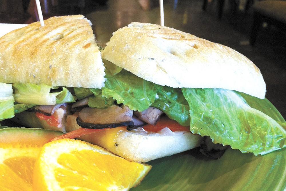 The Cypria sandwich from Calypsos. - CARRIE SCOZZARO