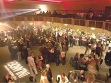 The dance floor, before the dancing began.