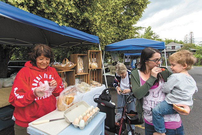 The Emerson-Garfield market on a recent Friday. - MATT WEIGAND