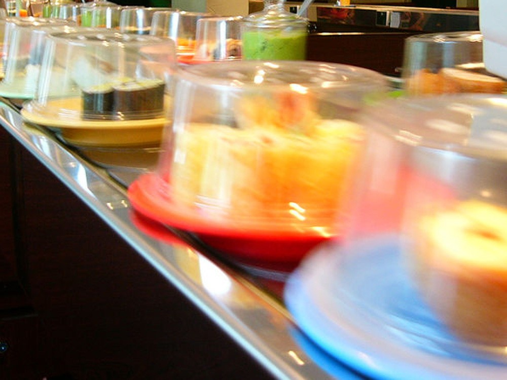 The food keeps moving at Sushi Track