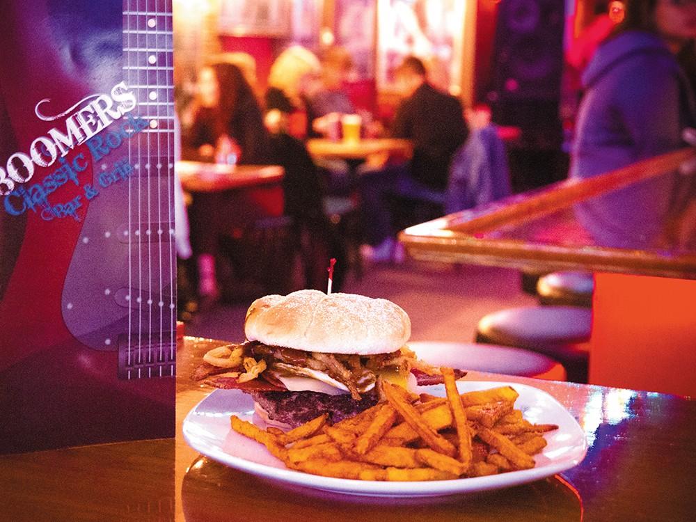 The Frankenstein burger at Boomers. - JENNIFER DEBARROS