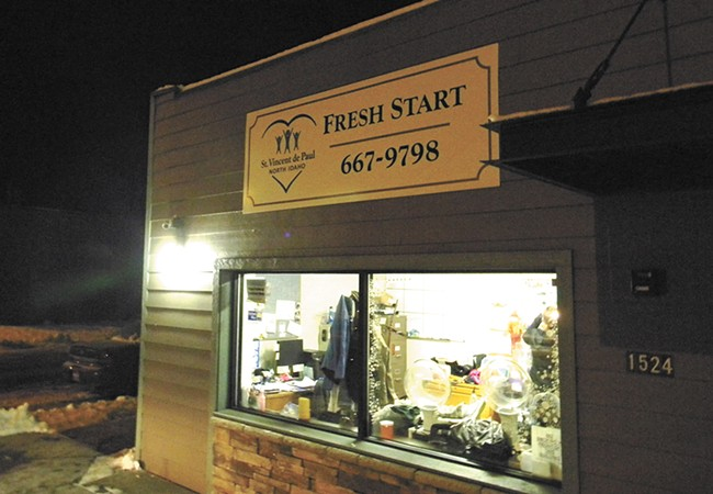 The Fresh Start warming shelter in Coeur d'Alene. - JAKE THOMAS