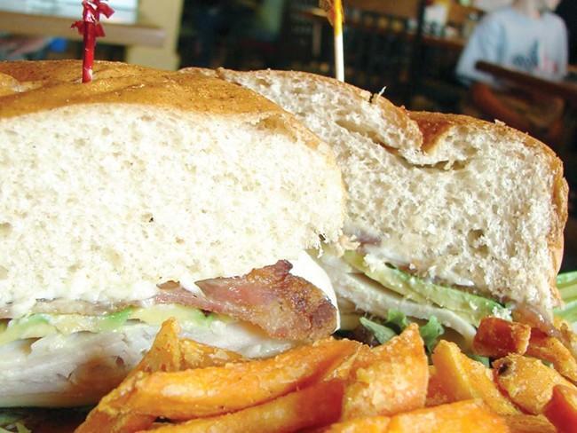 The Full Moon sandwich at Moondollars Restaurant. - CARRIE SCOZZARO