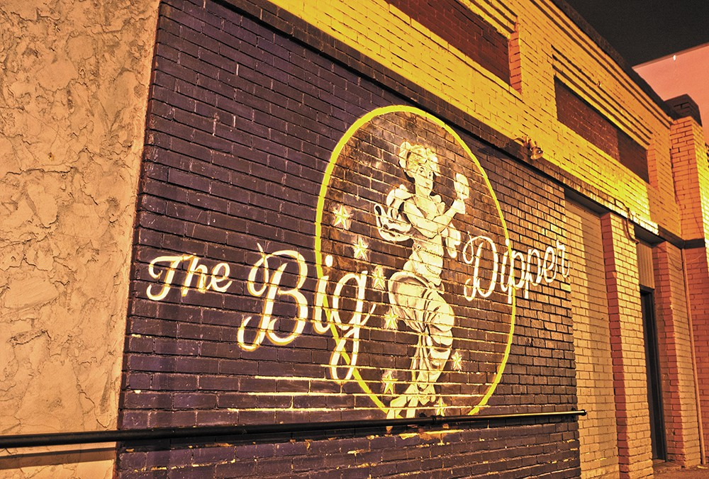 The iconic mural has been restored by the venue's new owners. - MEGHAN KIRK