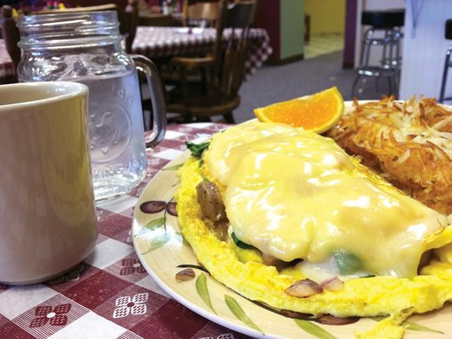 The Italian omelet at Grandma Zulas Kitchen. - CARRIE SCOZZARO