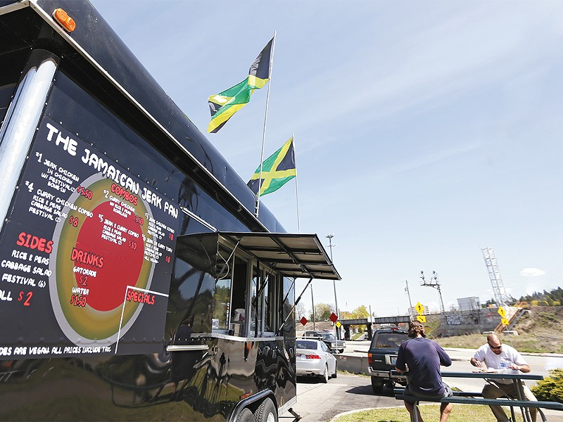 The Jamaican Jerk Pan food trailer in Browne\'s Addition has met confusing and unclear regulations during its first year. - YOUNG KWAK
