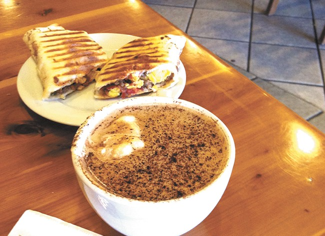 The Java Bowl of Soul and a panini from Java Hayden. - CARRIE SCOZZARO