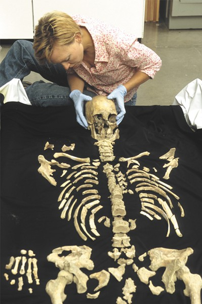 The Kennewick Man's remains are kept in a vault at the University of Washington. - SMITHSONIAN