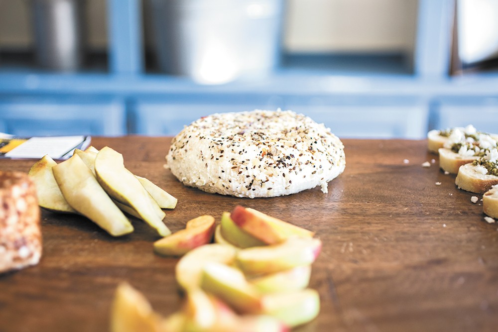 The lavender spice chevre cheese is just one of the cheeses you can taste at Chattaroy's open creamery this weekend. - ADAM MILLER