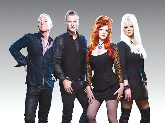 The original B-52s (left to right): Fred Schneider, Keith Strickland, Kate Pierson and Cindy Wilson.