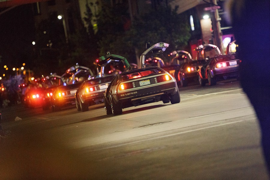 The Pacific Northwest DeLorean Club drives by. - YOUNG KWAK