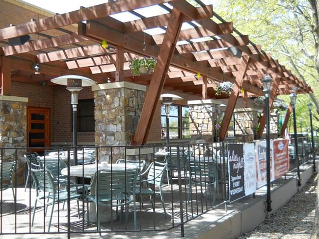 The patio at C. I. Shenanigans