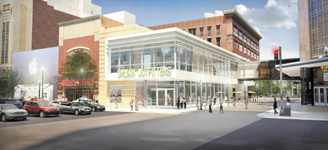 The proposed Spokane location for Urban Outfitters.