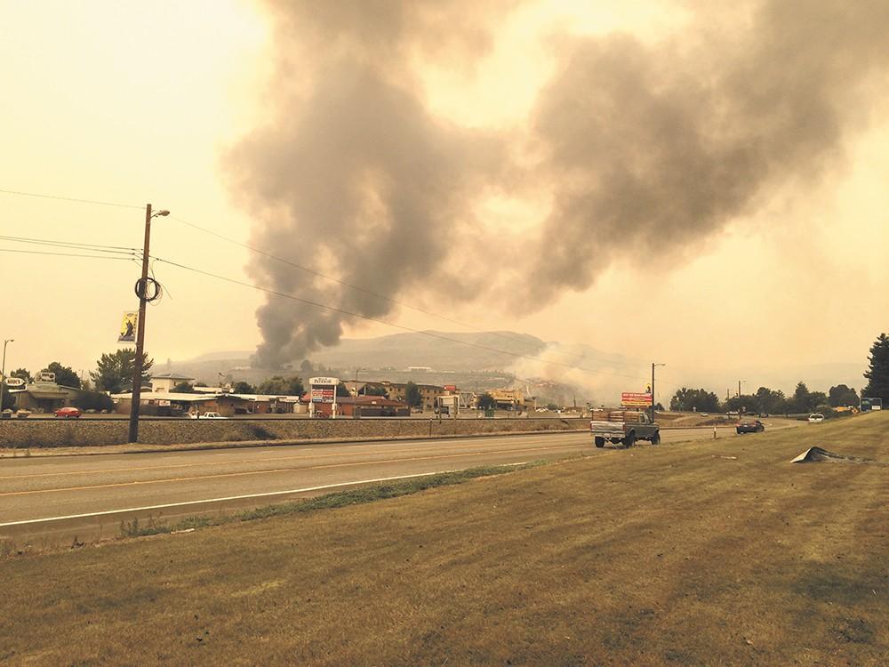 The scene over Pateros, Washington, on July 18. - SCOTT A. LEADINGHAM