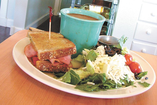 The soup and half-sandwich special from Tilly's. - CARRIE SCOZZARO
