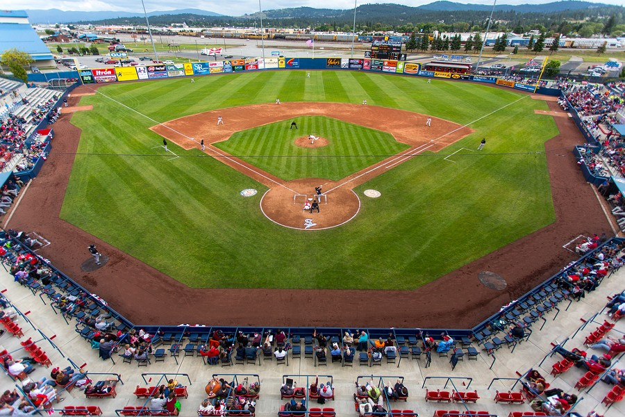 The Spokane Indians played for 4,334 fans at Avista Stadium against the Eugene Emeralds on Father's Day. - MATT WEIGAND