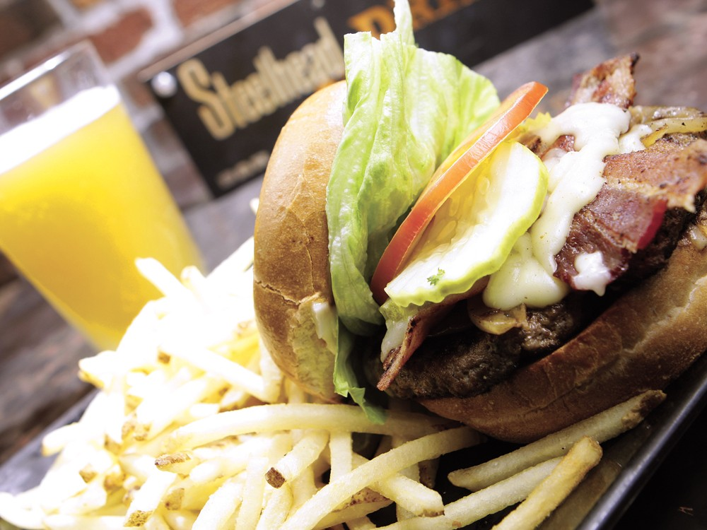 The Steelhead menu is full of adventurous options, but you can always rely on the trusty Steel Burger. - YOUNG KWAK