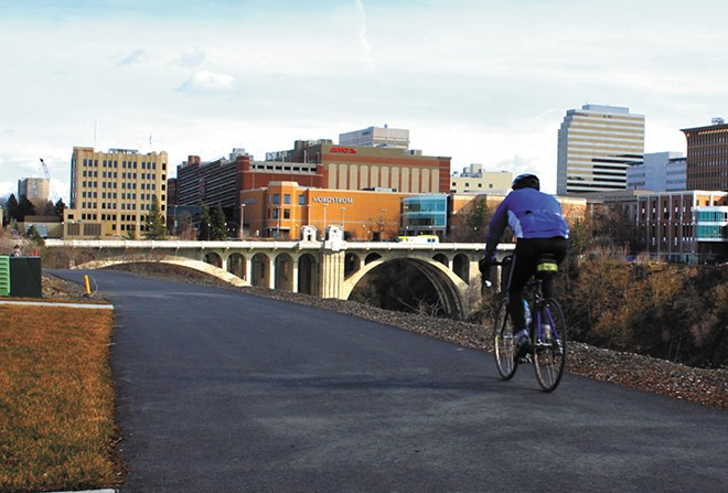 The trail's newest addition runs through Kendall Yards. - CHRIS BOVEY