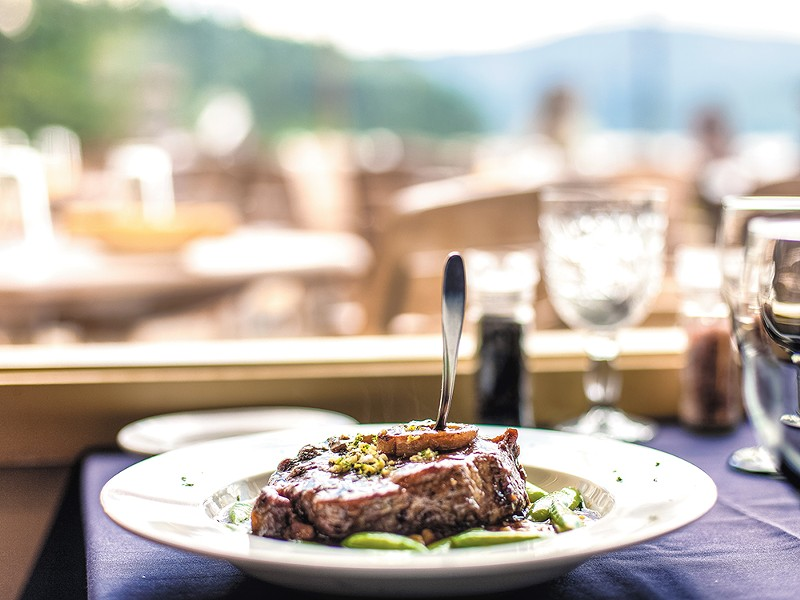 The view from Tony\'s On The Lake in Coeur d\'Alene. - MIKE MCCALL