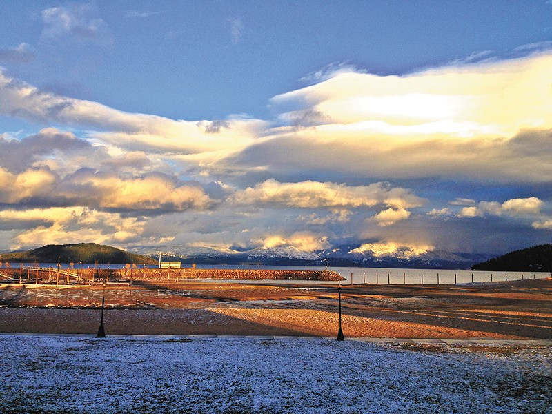 The view of Lake Pend Oreille from Trinity at City Beach. - CARRIE SCOZZARO